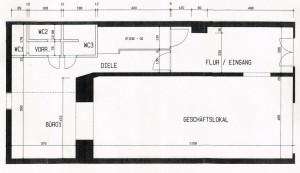 Wexelstube - Plan der Räumlichkeit